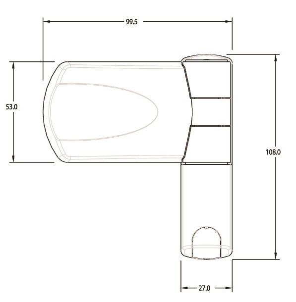 Trojan Patriot 3D Flag Hinge Oak 16mm-1110