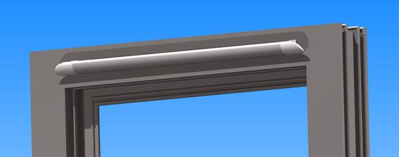 Aluminium Pyramid WIndow Slotvent 285mm long - White-1144