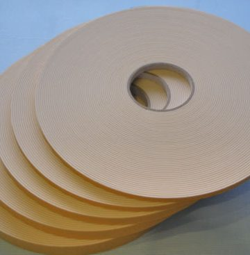 3mm X 9mm White Double Sided Security Tape 25m
