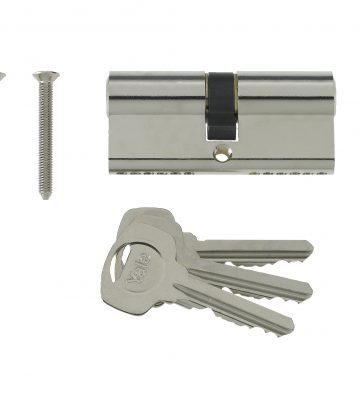 Yale 6 Pin Euro Profile Cylinder Lock Nickle 45/55 (100mm) C/w 3 Keys