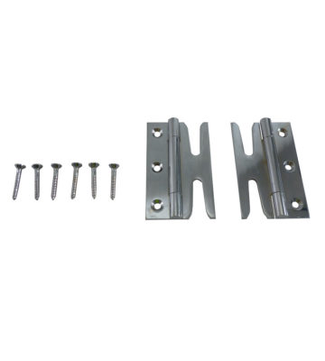 189 Solid Brass Simplex Hinges (pair) Polished Chrome Plated