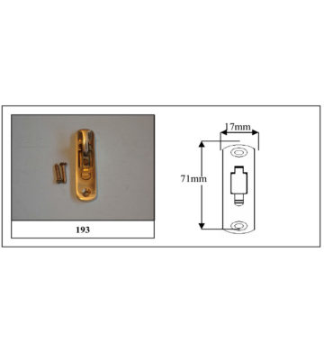 193 Weekes Stop Radius End Polished Brass