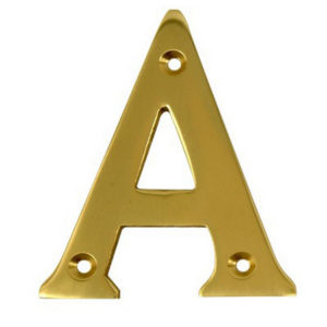 """2"""" Gold Anodised Letter A"""