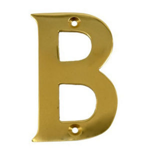 "2"" Gold Anodised Letter B"