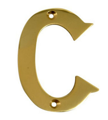 "2"" Gold Anodised Letter C"