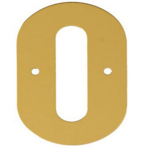 """2"""" Gold Anodised Numeral 0"""
