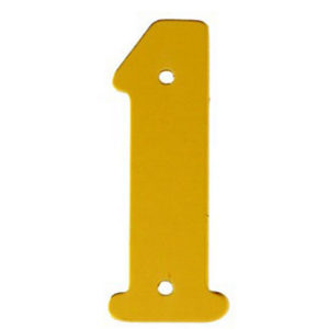 """2"""" Gold Anodised Numeral 1"""