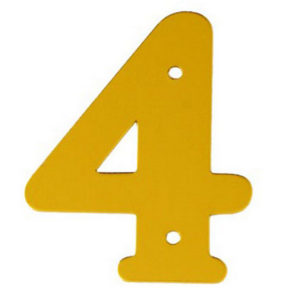 """2"""" Gold Anodised Numeral 4"""