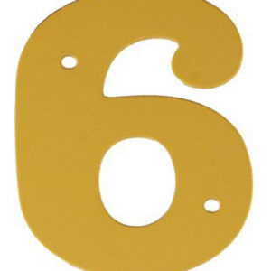 """2"""" Gold Anodised Numeral 6"""