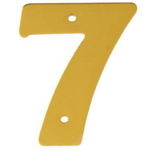 """2"""" Gold Anodised Numeral 7"""