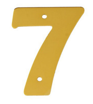 "2"" Gold Anodised Numeral 7"