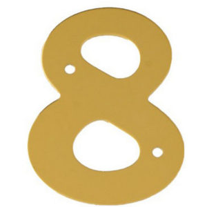 """2"""" Gold Anodised Numeral 8"""