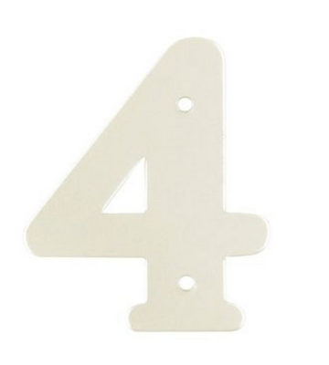 "2"" Silver Satin Anodised Numeral 4"
