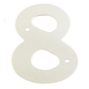 "2"" Silver Satin Anodised Numeral 8"