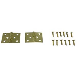 216 Baton Rod Hinge Polished Brass (pair)