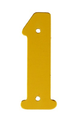"2"" Gold Anodised Numeral 1"