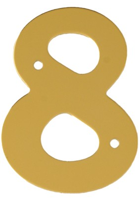 "2"" Gold Anodised Numeral 8"