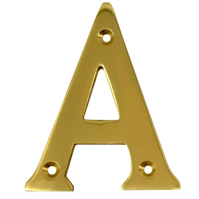 2'' Gold Anodised Letter A-0
