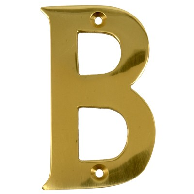 2'' Gold Anodised Letter B-0