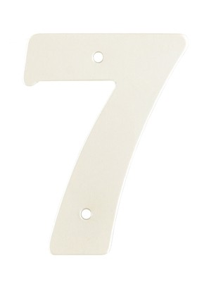 "2"" Silver Satin Anodised Numeral 7"