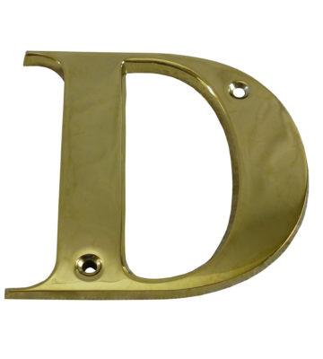 "3"" Brass Letter D"