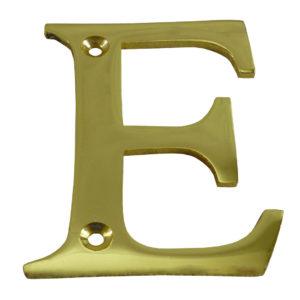 """3"""" Brass Letter E"""