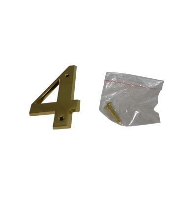 "3"" Brass Door Numeral 4"