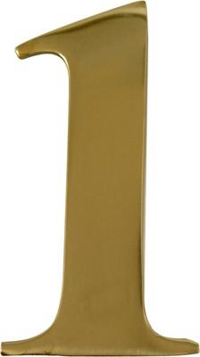 """3"""" Brass Door Numeral 1"""
