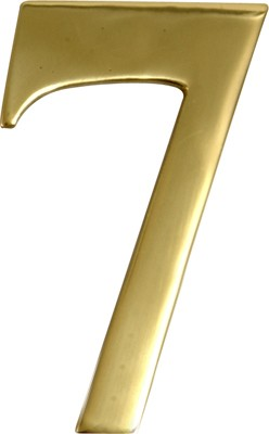 "3"" Brass Door Numeral 7"