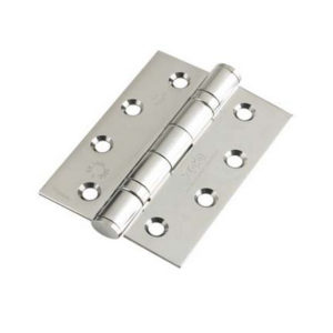 Ball Bearing Door Hinge Grade 13  102 X 76 X 3 Polished Stainless Steel Square End (Pair)