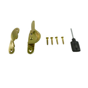183L Fitch Fastener Locking C/w Narrow Keep Polished Brass