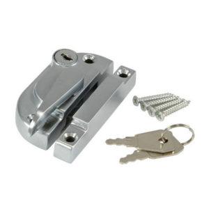 Securifitch Locking Sash Fastener Satin Chrome
