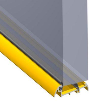 Stormguard 62mm Slimline Inward Opening Weatherbar C/w Deflector 1000mm Gold