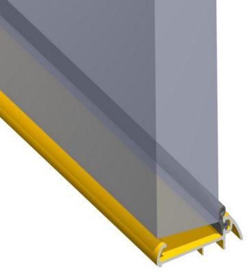 Stormguard 62mm Slimline Outward Opening Weatherbar C/w Deflector 2000mm Gold