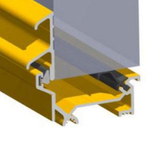 Stormguard Dry X Inward Opening Weatherbar 1219mm Gold