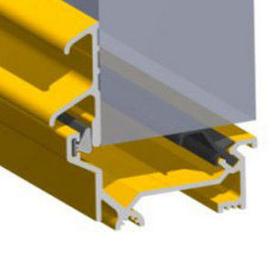 Stormguard Dry X Inward Opening Weatherbar 1828mm Gold