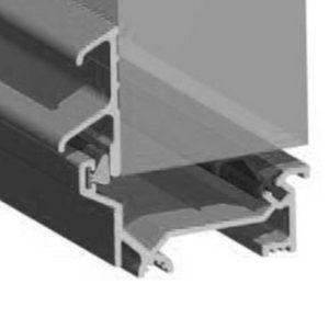 Stormguard Dry X Inward Opening Weatherbar 1828mm Silver Aluminium