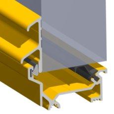 Stormguard Dry X Inward Opening Weatherbar 2100mm Gold