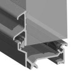 Stormguard Dry X Inward Opening Weatherbar 2100mm Silver Aluminium