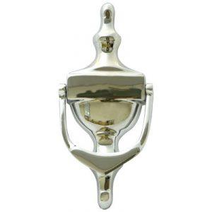 """6"""" Victorian Urn Door Knocker Polished Chrome"""