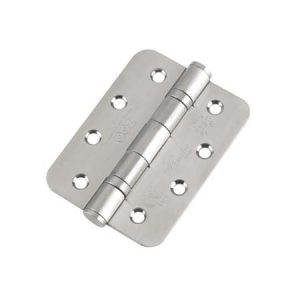 Zoo Ball Bearing Door Hinge Grade 13  102 X 76 X 3 Stainless Steel Radius End (Pair)