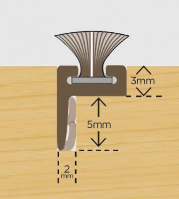 Offset Leg Carrier Brown C/w 6.5mm Weatherpile 2.1m