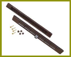 Sealco Slotvent 288mm Brown TVB04B