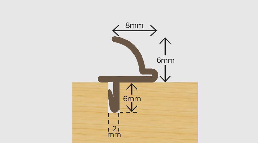 Slidex Flexible Weatherseal Brown 3m-0