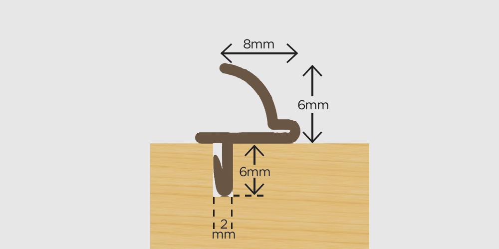Slidex Flexible Weatherseal Brown 3m
