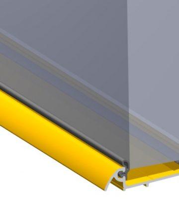 Stormguard Slimline Wide Inward Opening Weatherbar C/w ICD Deflector 1000mm Brass
