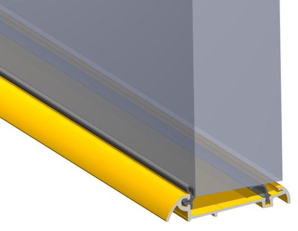 Stormguard Slimline Wide Inward Opening Weatherbar C/w ICD Deflector 1500mm Brass