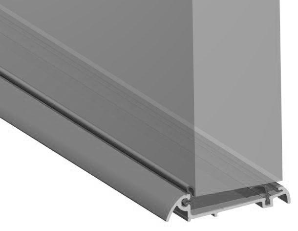 Stormguard Slimline Wide Inward Opening Weatherbar C/w ICD Deflector 1000mm Silver
