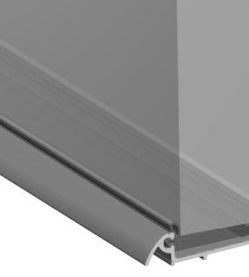 Stormguard Slimline Wide Inward Opening Weatherbar C/w ICD Deflector 2000mm Silver
