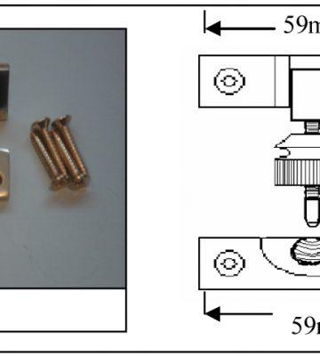 161 Brighton Fastener Non Locking Polished Brass